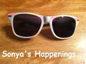 These white sunglasses were decorated entirely with Sharpies by Gracie