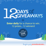 Surviving The Holidays With Promotional Codes And The 12 Days Of Giveaways