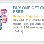 I Found A Great BOGO #Free Up to $13.99 Schick #Coupon