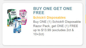 Schick coupon