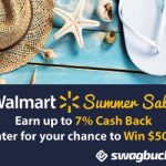 Earn 7% #SB at Walmart And A Chance To #Win $500!  I Love Swagbucks!