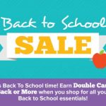 Earn Double Cash Back When You Shop With Swagbucks Back To School