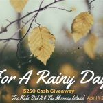 Brighten Up Your Rainy Days With An April $250 #Giveaway- Ends 4-22
