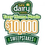 Enter To #Win Cash in the Easy Home Meals June Dairy Month $10,000 #Sweeps – Ends 6-30