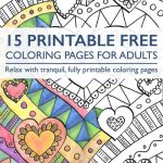 Sign Up At Favecrafts And Download 15 Printable Free Coloring Pages for Adults eBook.
