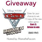 WooHoo~ Enter The Cars 3-  Driven To #Win Video Game – #Giveaway Ends 7-15