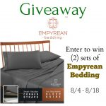 What A Luxurious #Giveaway- #Win Empyrean Bedding Ends 8-18
