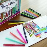 Paper Mate Flair Felt Tip Pen Set With Women's Closet Adult Coloring Book (75% Off)