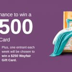 Enter To #Win a $2500 Wayfair Gift Card from Wayfair (Weekly Winners Too) ~ #Sweeps Ends 6-4
