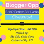 This is A Great Way To Start Holding #Giveaways- Join The Benq Screen Bar Giveaway~