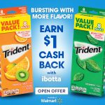 Save On Trident Sugar Free Gum With iBotta + A Chance To #Win Walmart GC's #AD