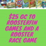 Enter To #Win A $25 GC To RoosterFin Games And A Rooster Race Game ~ #Giveaway Ends 11-19 #HGG