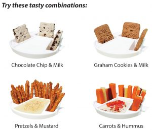 milk and cookies, portion control, kitchen and home