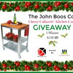 Enter To #Win The John Boos Co. Cherry Culinarte' Kitchen Cart #Giveaway  ~ Ends 12/20