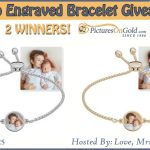 2 #Winners! Photo Engraved Bracelet from PicturesOnGold.com #Giveaway! Ends 12-25