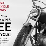 enter to win, harley davidson, win a motorcycle
