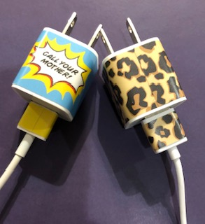 customize your iphone charger, decals for your iphone charger, giveaway