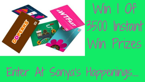 Enter to win 1 of 3500 instant win prizes!