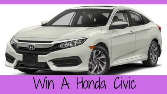 Enter to win a Honda Civic. Sweepstakes ends 10-31