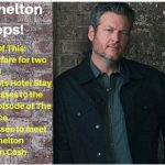Blake Shelton Sweeps, win, win a trip
