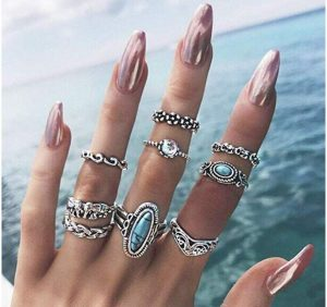 boho vintage rings, knuckle rings,  rings